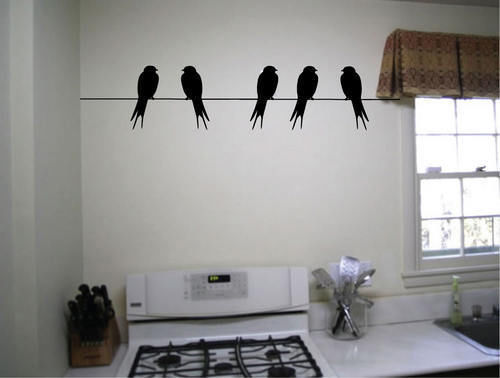 Merveilleux Birds On A Wire Cool Wall Decals Vinyl Stickers Home Decor Living Room  Decorative Bedroom Wallpaper