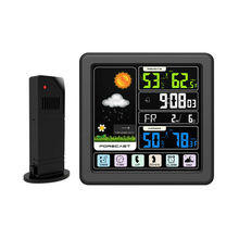Weather Station Temputer Thermometer Hygrometer Outdoor Indoor Digital Temperature Humidity Meter Sensor Touch Screen For Home стоимость