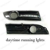 Auto Parts Car DRL Turn Signal Style 12V 6000k Daytime Running Lights Fog Lamp For V
