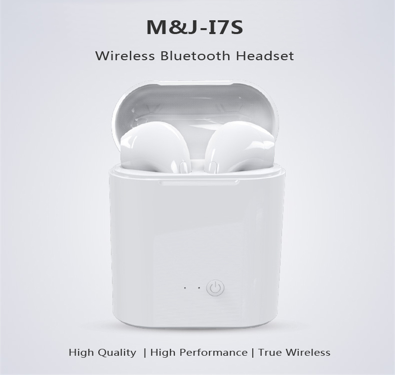 HTB1oVseq7yWBuNjy0Fpq6yssXXab - M&J i7s TWS Mini Wireless Bluetooth Earphone Stereo Headphone With Charging Box Mic