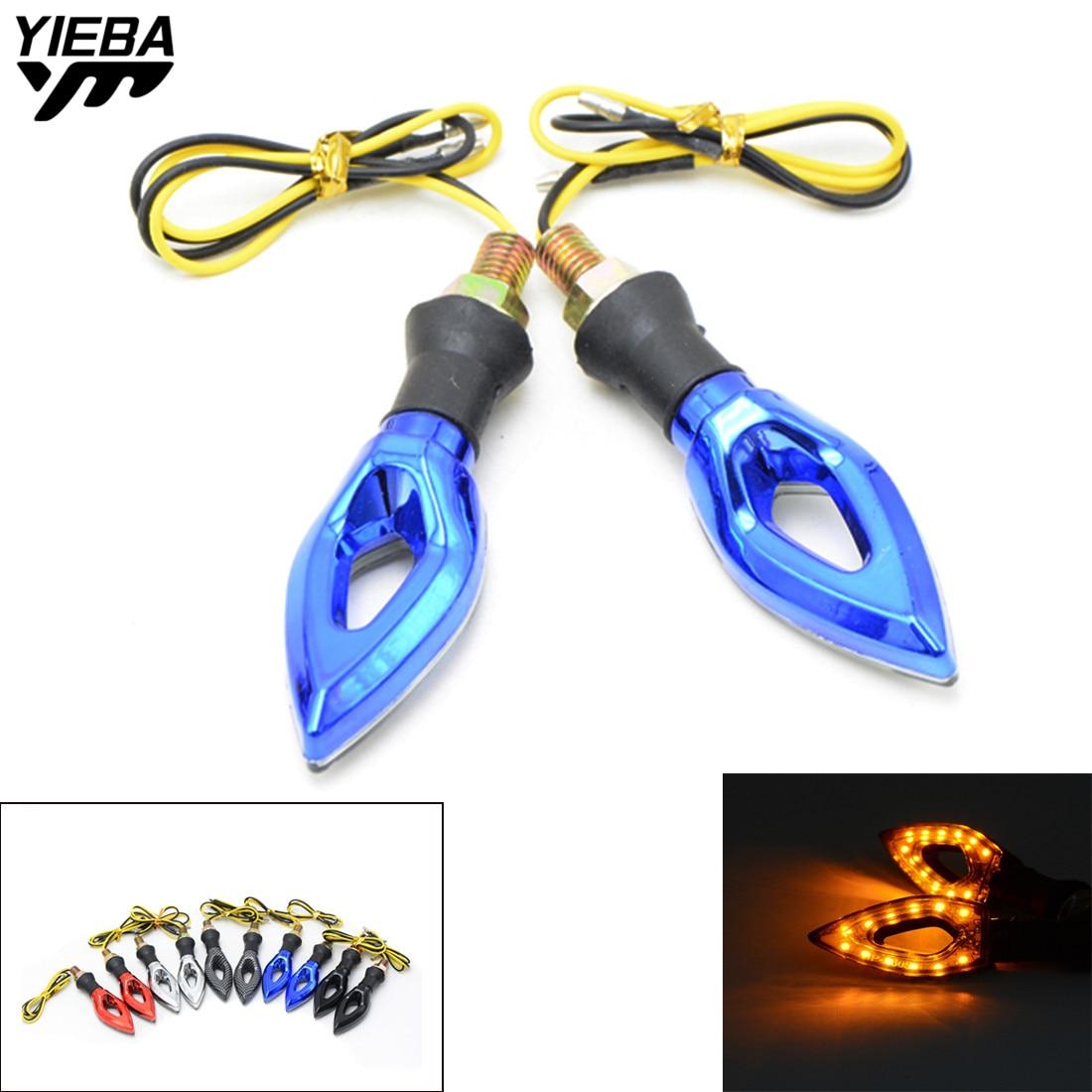 Universal 12V LED Motorcycle Turn Signal Indicators Lights/Lamp FOR YAMAHA YZF-R15 YZF600 R1 R6 R6S USA VERSION XJ6 DIVERSION