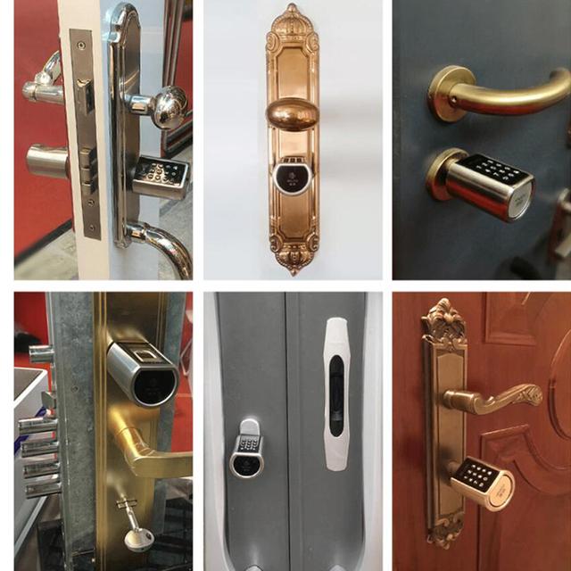L5PCB Bluetooth digital Safe Lock Door Smart Keypad Wireless Bluetooth Password Electronic Lock Cylinder with door knob handle