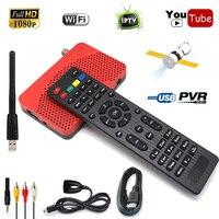 HD IKS m3u ac3 MPEG-4 DVB-S2 Ricevitore Digitale Satellitare Supporto IPTV WIFI CS VU Mini Formato Alimentazione Biss Cccam Newcam HDMI AV cavo
