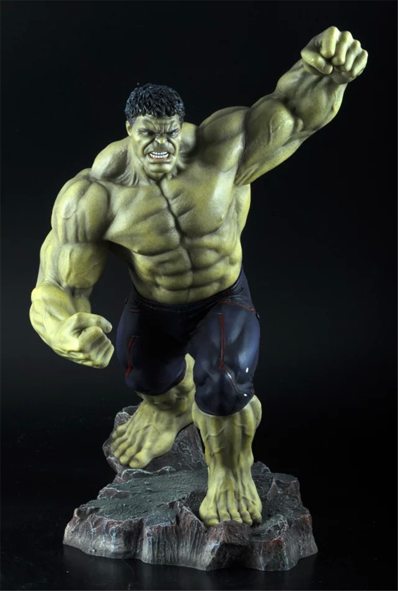 WVW 12in Hot Sale The Avengers Movie Hero Hulk Play Arts Model PVC Toy Action Figure Decoration For Collection Gift movie super hero the hulk pvc action figure toy 25cm red hulk green hulk figures toys free shipping