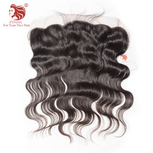[FYNHA]Brazilian Lace Frontal Closure Body Wave Virgin Hair 13*4 Plucked Natural Hairline Bleached Knots 100% Human Hair
