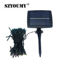 SZYOUMY Waterproof Solar String Light 22M 200 LED 8 Modes Solar Fairy String Light Outdoor Garden