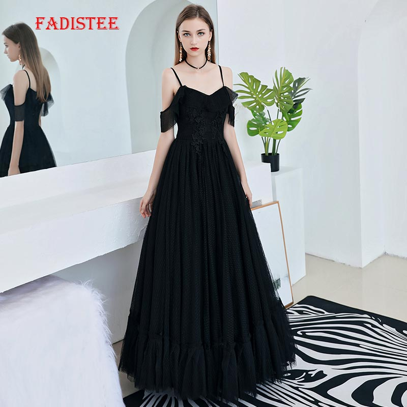 FADISTEE summer party   dress     Prom     Dresses   Long   dress   Vestido de Festa elegant V-neck little black   dresses   evening formal zipper