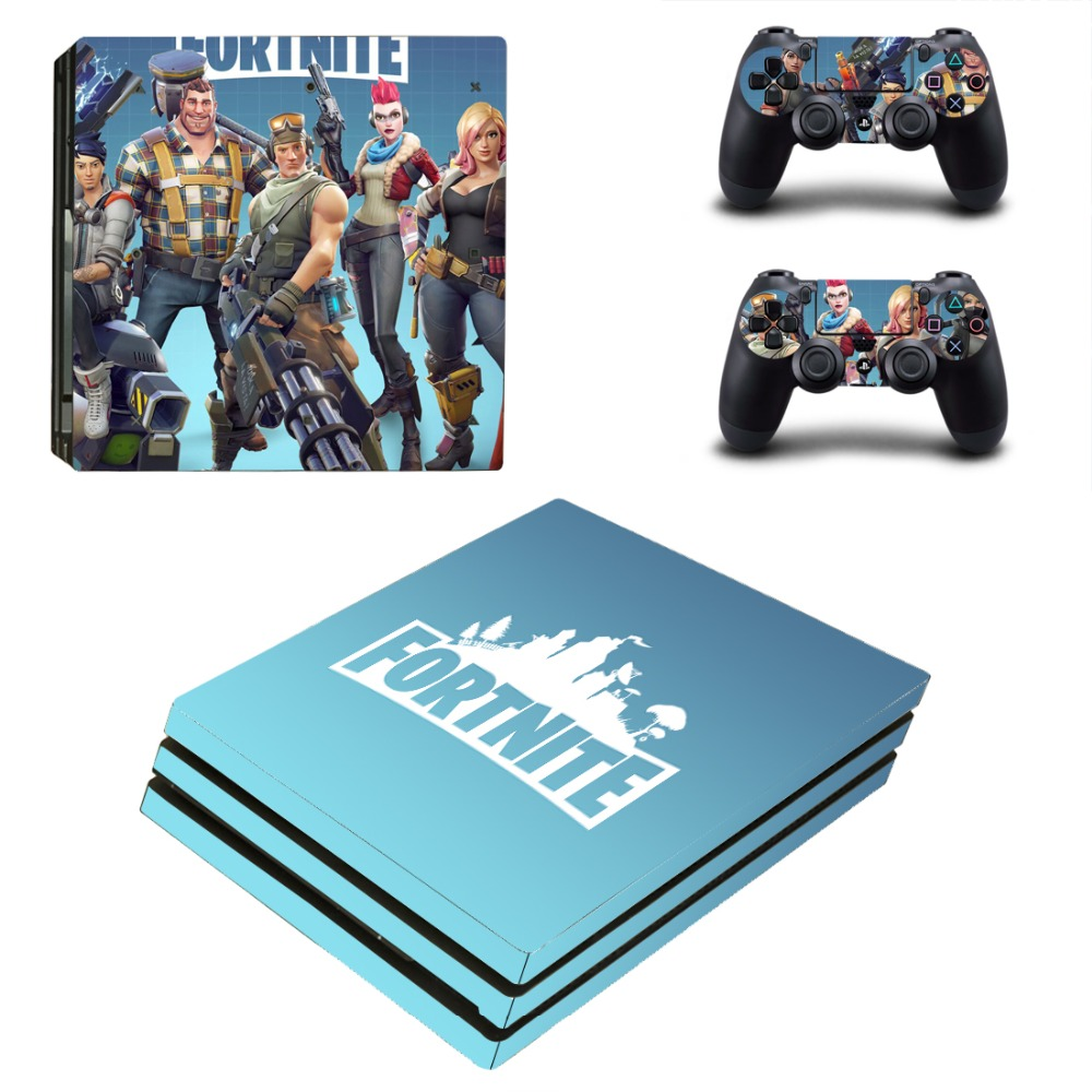 Fortnite Battle Royale PS4 Pro Skin Sticker Decal for PlayStation 4 Console and 2 Controller PS4 Pro Sticker Vinyl