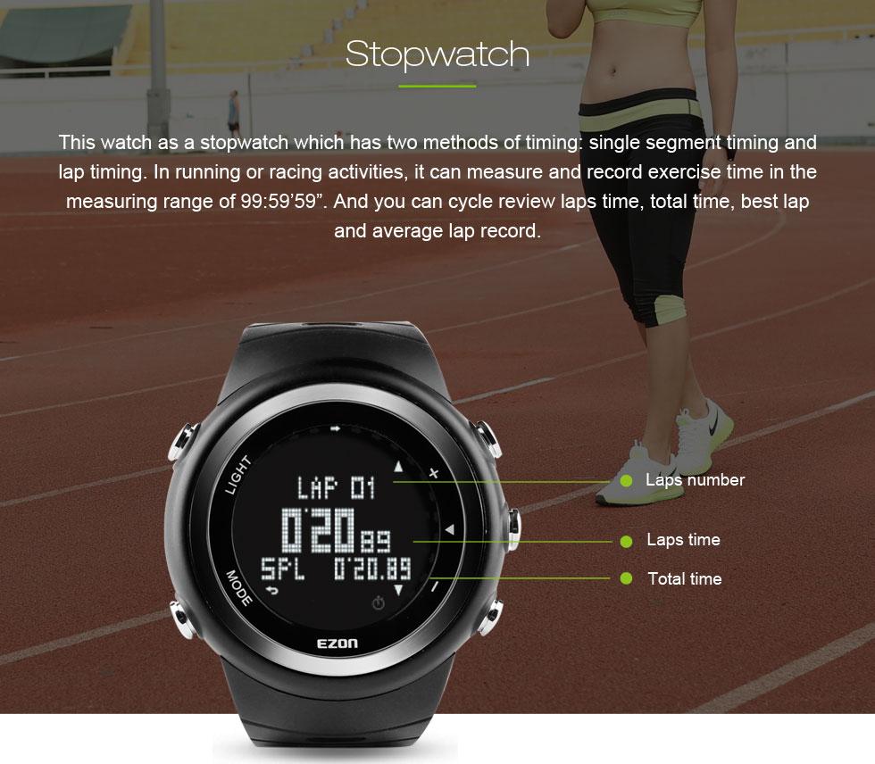 EZON T023 Digital relógio do Esporte Dos