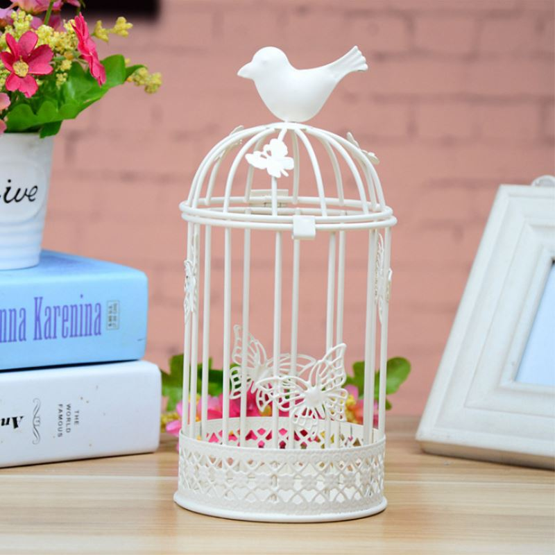 Wholesale home decor iron candle holders bird cages for Cheap household accessories