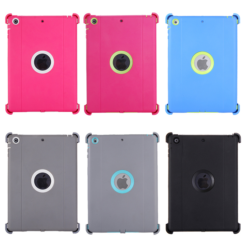 Neutral Monochrome PC + TPU Contrast Color Combination Case with Holder & Mirror Face Protection for iPad Air / iPad 5