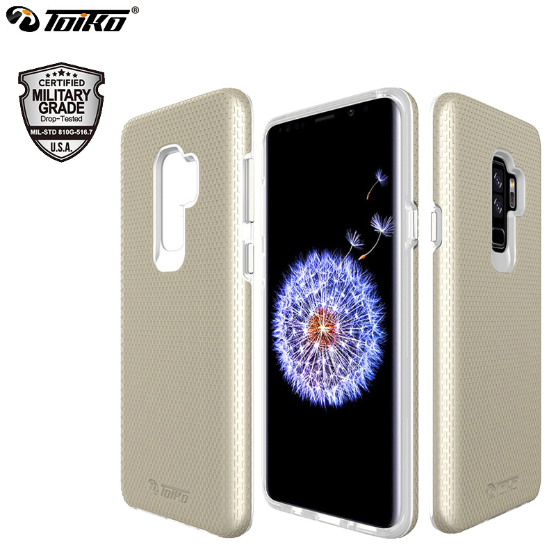 TOIKO X Guard Cases for Samsung Galaxy S9 Plus Dual Layer PC TPU Bumper Covers Hybrid Armor Phone <font><b>Accessories</b></font> Protective Shell