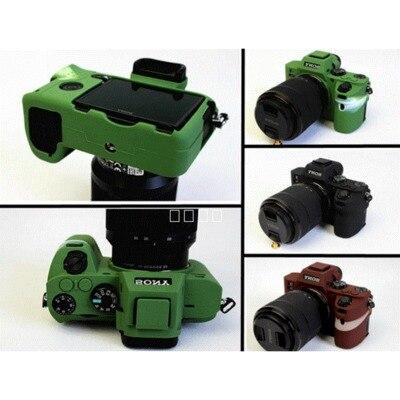 Camera Nice Soft Silicone Rubber Camera case bag Lens bag for SONY A7RII a7ii a7s ILCE-7RM2 Soft Lens bag