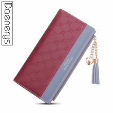 Daenerys Women PU Leather Wallet Long Zipper Tassel Ladies Phone Clutch Purse Female Coin Purse Card Holder Thin For Girls 2018 new women wallet long genuine leather ladies purse phone holder female clutch big capacity for women coin card purse