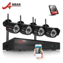 ANRAN Plug And Play 4CH Système de Caméra de Sécurité Sans Fil NVR Kit P2P 720 P HD Extérieure IR Nuit Vision CCTV Caméra IP Système