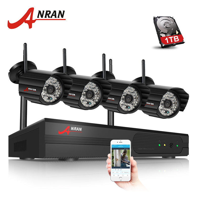 bilder für ANRAN Stecker Und Spielen 4CH Security Camera System Wireless NVR Kit P2P 720 P HD Outdoor IR Nachtsicht CCTV-IP-KAMERA System