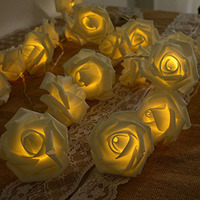 30 LED Rose String Lights, Rose Flower Lamp Fairy Lights for Christmas Wedding Room Anniversary Valentine's Day and new years