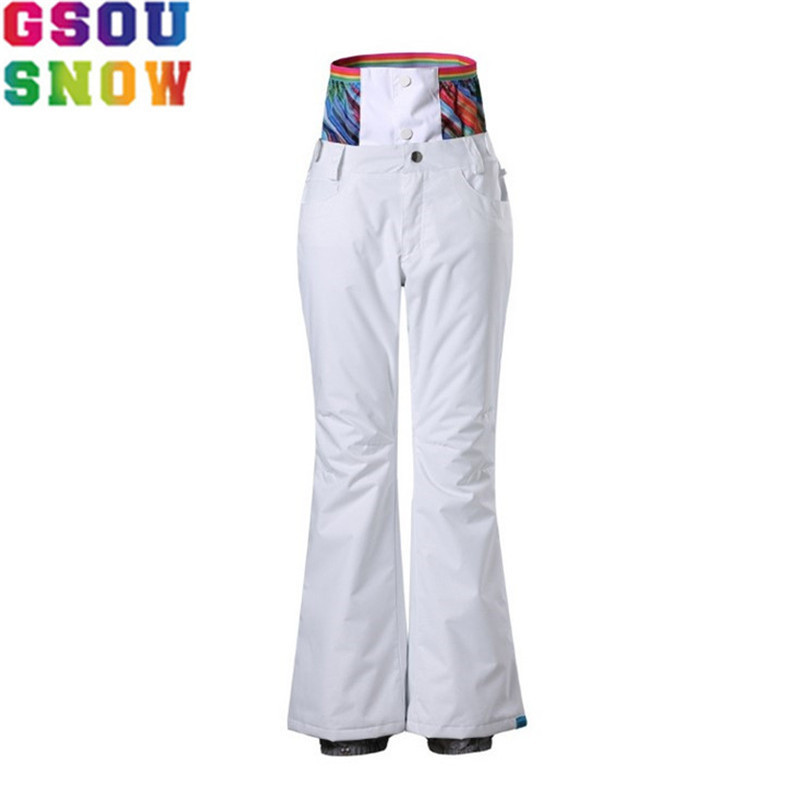 GSOU SNOW Brand Ski Pants Women Snowboard Pants High Waist Waterproof 10K Windproof 10K Winter Skiing Snowboarding Snow Trousers famous brand laifu design women lightweight nylon bag teenage girls school backpack preppy style shopping travel black coffee page 9 page 7 page 1