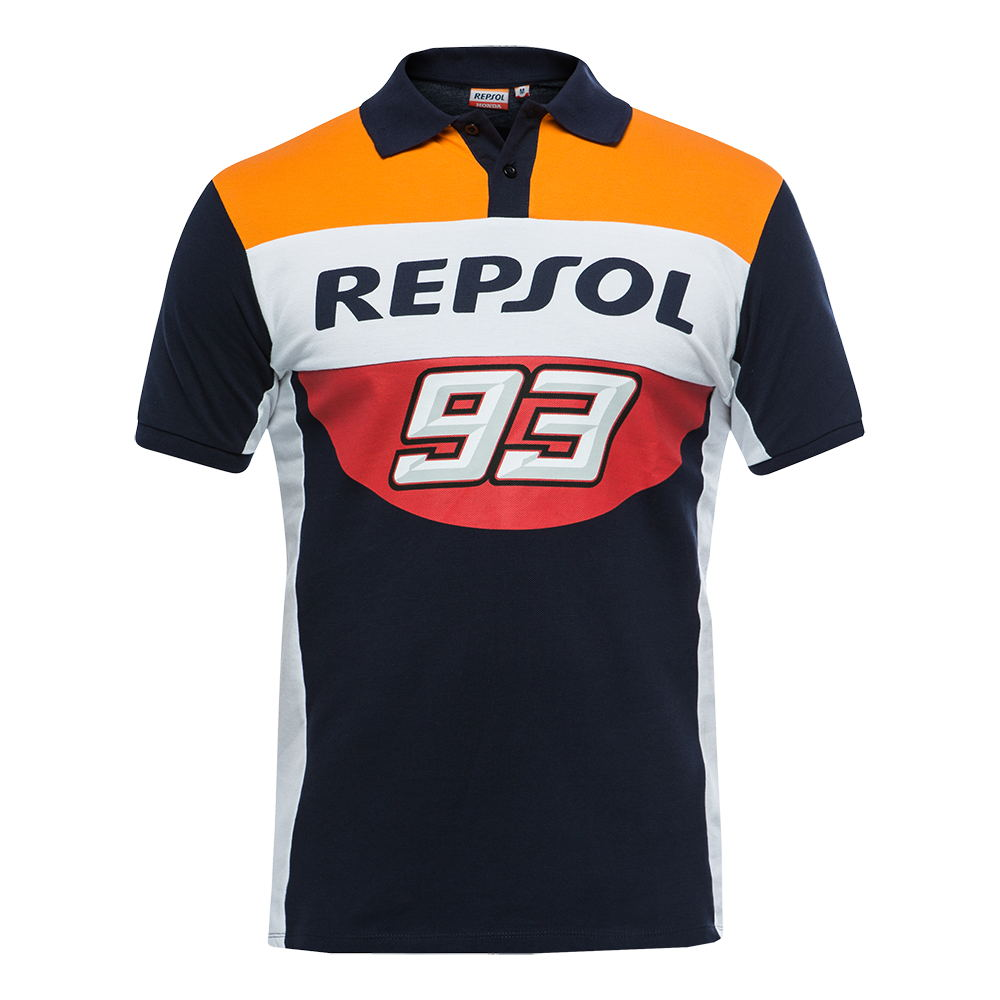Marc Moto GP Marquez 93 Repsol Polo Shirt Motorcycle ATV Sports Large Ant Racing Polo