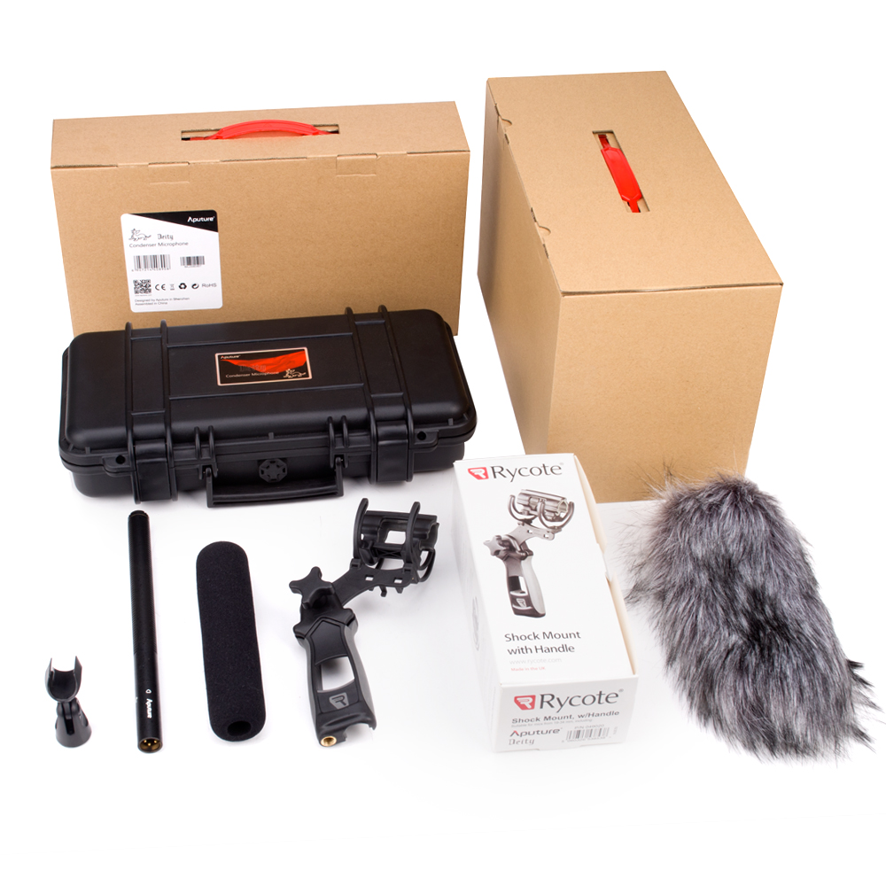 Aputure Deity Kit Professional Super Cardioid Condenser Shotgun Video Microphone with Windshield for Canon Nikon Sony DSLR SLR by pvm1000l condenser microphone xlr 3 pin super cardioid directional for camcorder dslr smartphone video interactive film video