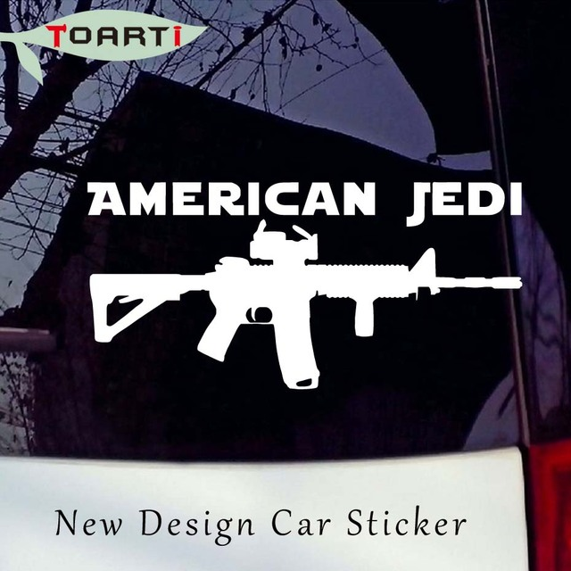 American jedi vinyl auto sticker car window star wars gun ar15 ammo oracal removable vinyl adhesive