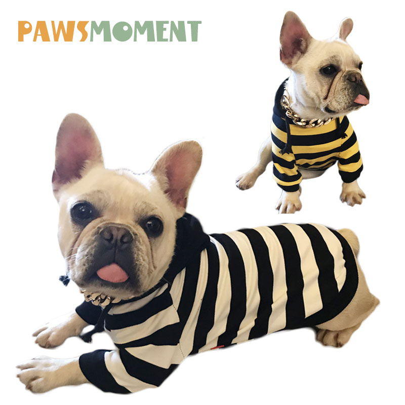 Summer Pet Sweater French Bulldog Clothes Spring Dog Clothes For Small Dogs Pug Chihuahua Clothing Striped Costume for Dog