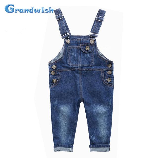Grandwish nuevos niños overol de mezclilla guardapolvos de los niños pantalones vaqueros chicos y chicas casual jeans pantalones 18 m-10 t, SC141