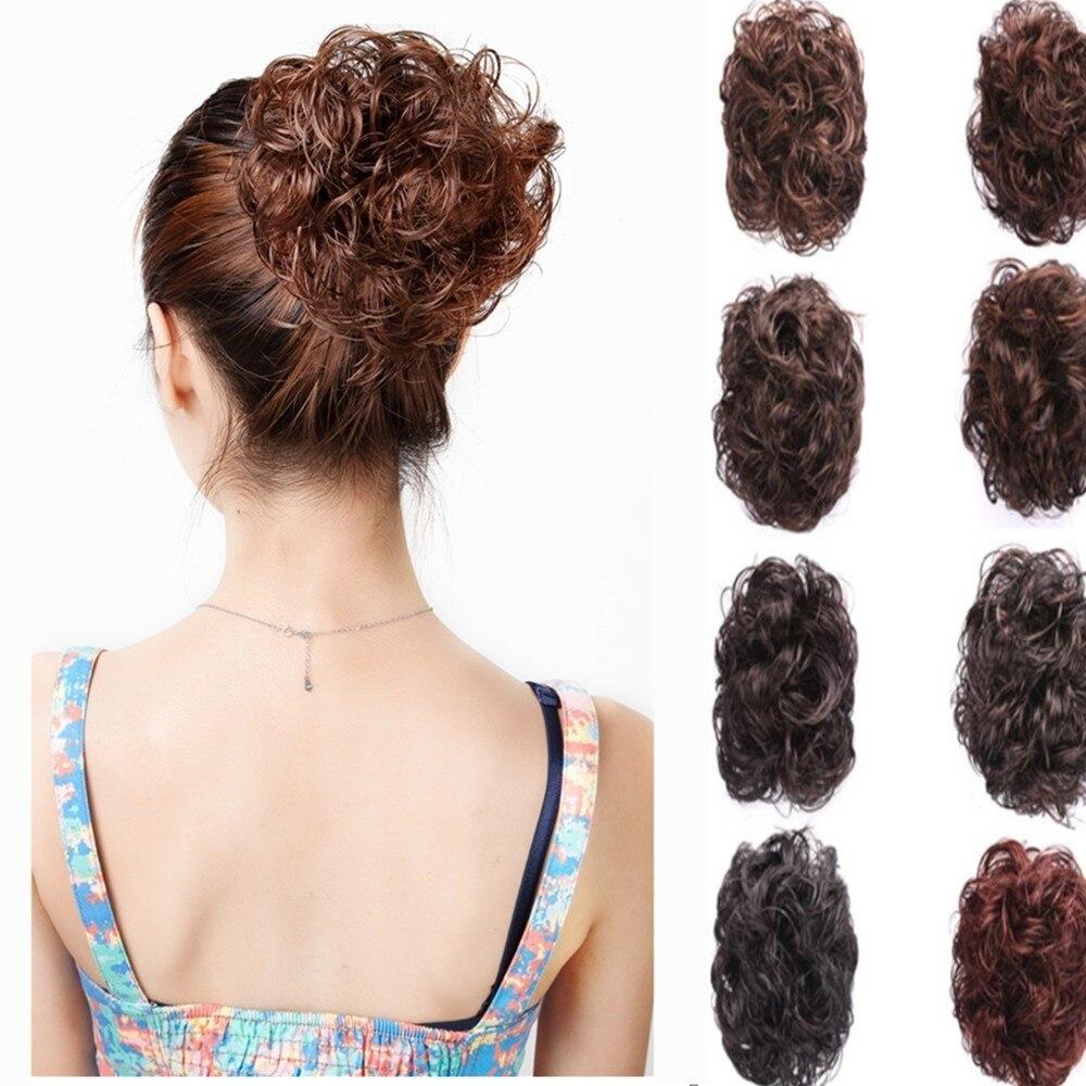 Fashion Hair Styling Accessories Messy Bun Curly Drawstring Hair Scrunchie Magic Wave Shaper Donut Hair Ring Bun Tool Lady Girl