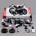 S1000rr motocicleta modelo kits de construção 1/12 montagem de brinquedo caçoa o presente mini moto diy modelos diecast toy para o presente coleção