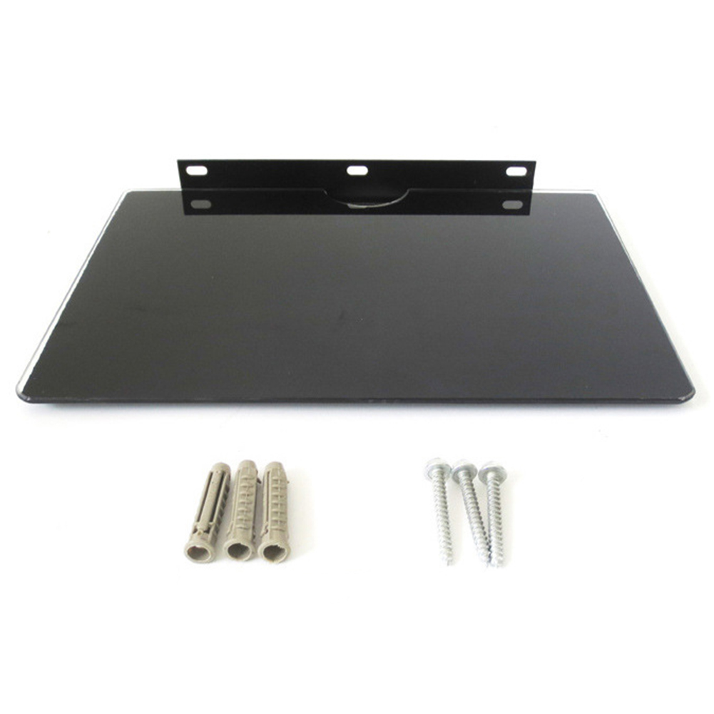 Holder Tempered Glass Rustproof Support AV Stand TV Box Shelf Wall Mount Universal Home Game Console Stylish Thick Bracket