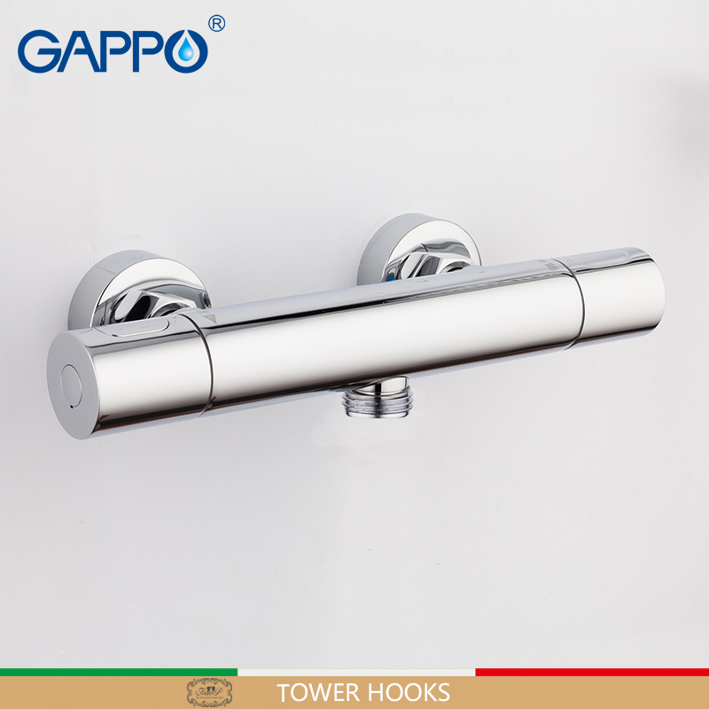 GAPPO shower faucet thermostatic showers round mixer tap wall mount mostatic shower bath mixer shower faucets taps water faucets wall mounted bath shower ceramic thermostatic faucets valve bathroom shower water thermostatic control valve mixer faucet tap