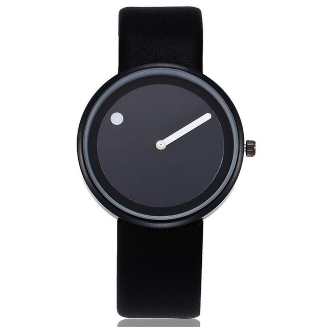 Quartz Wristwatches Reloj Mujer Simple Unique Women's Watches Leather Band Luxury Lovers Watch Wrist Watch Relogio Masculino