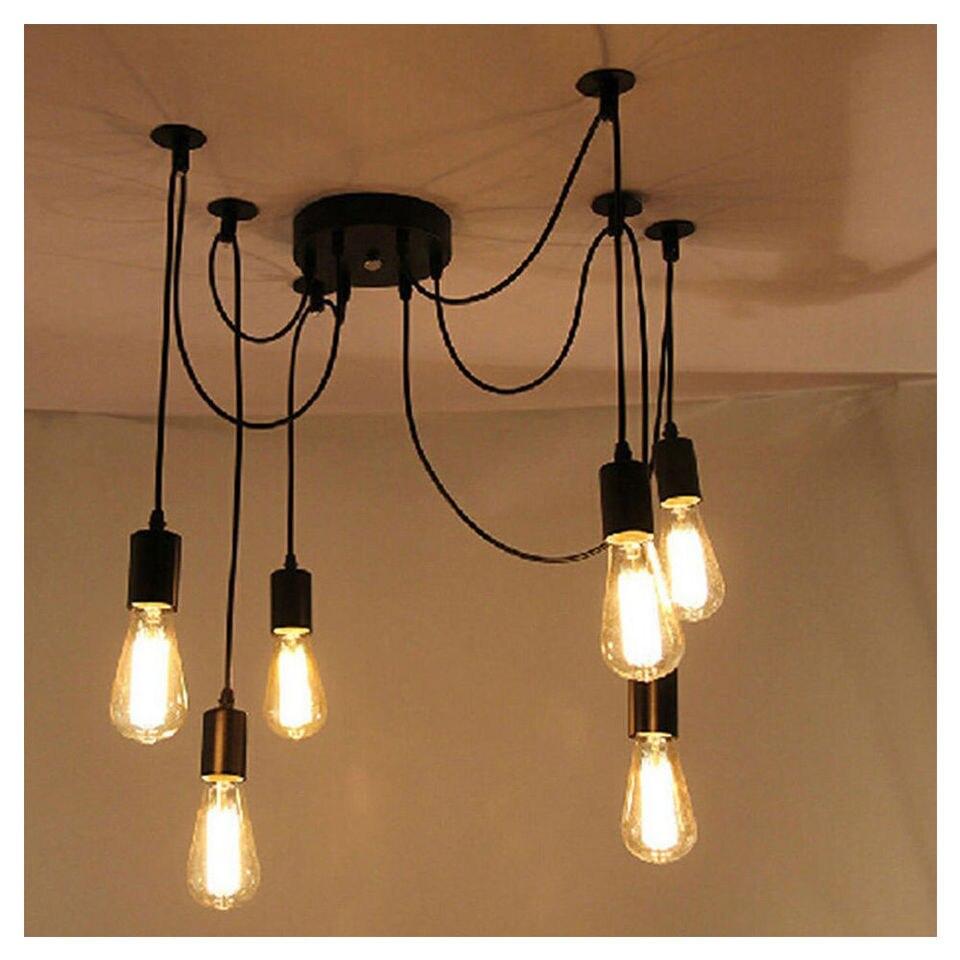 Luci Fai Da Te 6 luci edison antico ajustable fai da te spider luce della