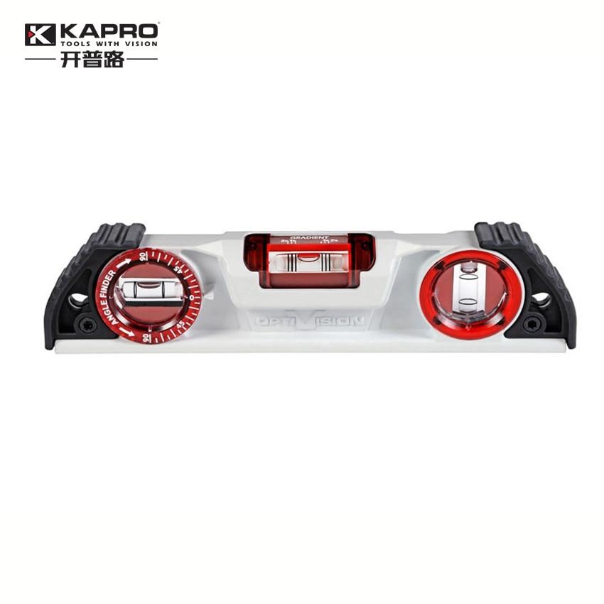 KAPRO 25cm 10 Magnetic Cast Aluminum Level High Precision Bubble Level Inclinometer