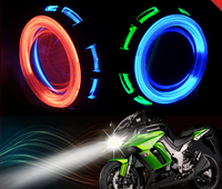 2 inch HID Bi-xenon Headlight Projector Lens with double angle eyes Halo Ring For Motorcycle Headlight kit H7 H4