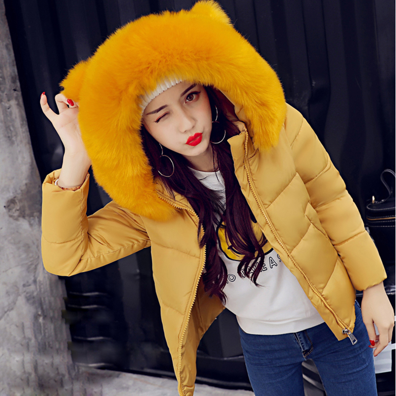 New Arrival Trendy Tops Women Short Coats Thick Faux Fur Collar Fashion Warm Jackets Solid Hooded Slim Casual Parkas Jacket Coat 2017 women jackets and coats solid slim large fur collar hooded short parkas thick jacket winter women warm coat overcoat sy003