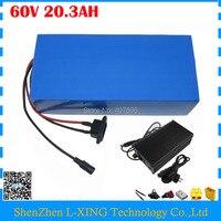 Бесплатная таможенный сбор 3000 Вт 60 вольт литиевая батарея 60 В 20AH 20.3AH Использование Аккумулятор для Panasonic 2900 мАч ячейки С 50A BMS 67,2 В Зарядное ус