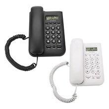 KX-T076 Home Hotel, teléfono de pared con cable, teléfono fijo para oficina, teléfono blanco negro, teléfono fijo para casa