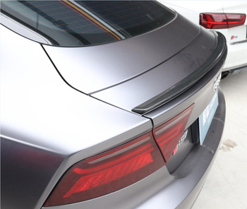 JINGHANG 100% Carro De Fibra De Carbono Asa Traseira Tronco Spoilers Lábio Se Encaixa Para Audi A7 RS7 2012 2013 2014 2015 2016 2017 2018