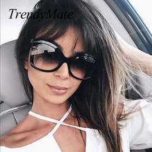 Black Oversized Sunglasses Women Fashion Vintage Brown Big Shades For Women Brand Square Sun Glasse For Female Accessories 1196T