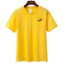 Harajuku Planet VOGUE Yellow Tops T Shirt Women Summer 2019 K-pop Alien Dog Cartoon Print Loose Tshirt Schoolgirl Clothes