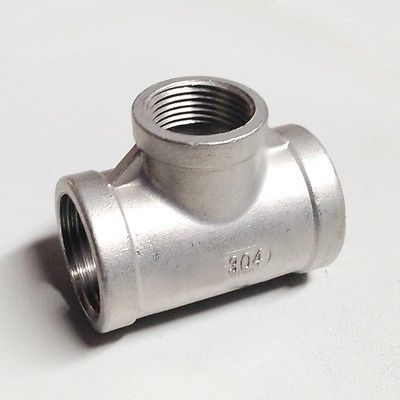 3/4 BSP To 1-1/4 BSP Female Thread 304 Stainless Reducing Tee 3 Way Connector Pipe Fitting water oil air cnz hosetail connector fitting barbed female bsp 1 1 2 inch thread set of 2