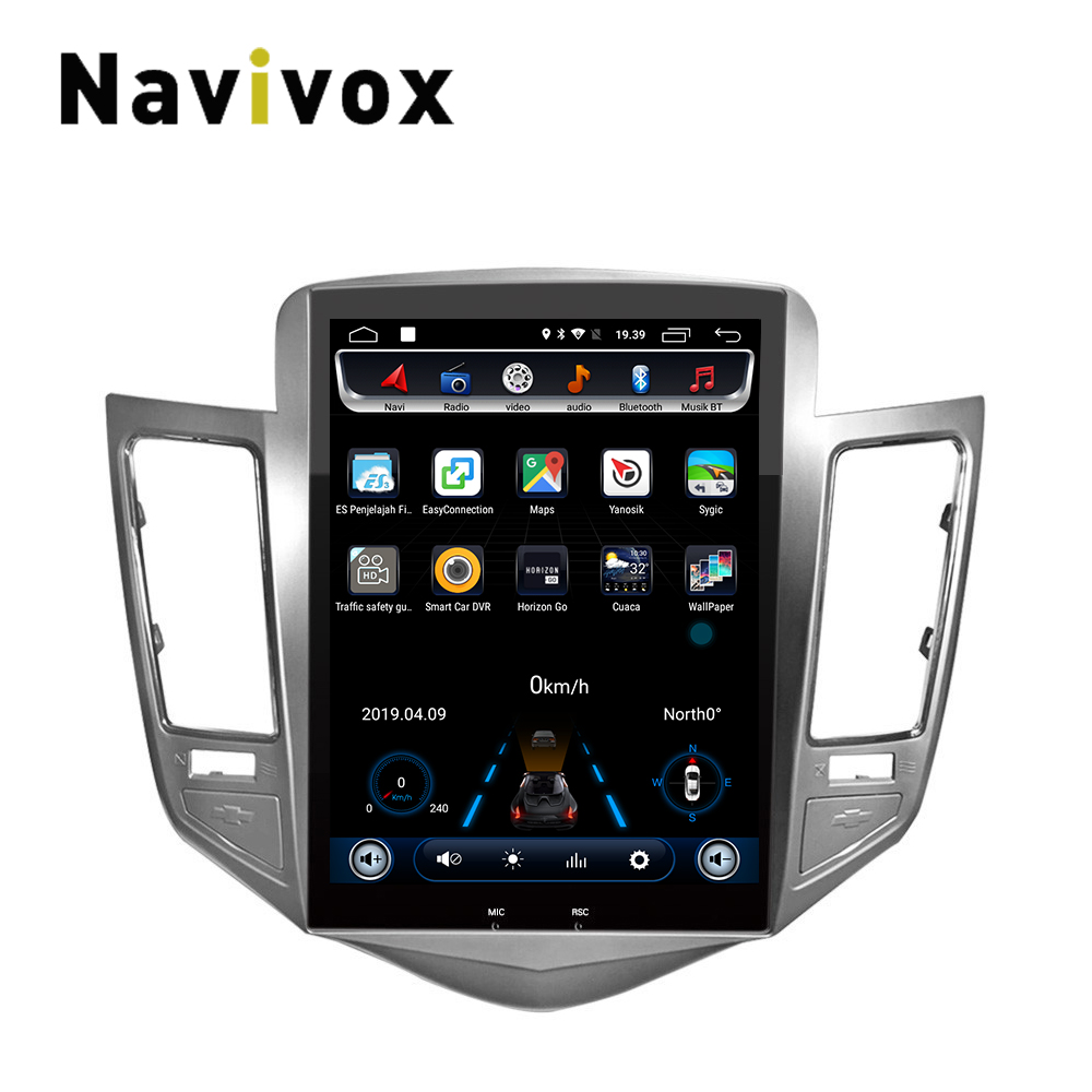 32G ROM écran Vertical android 6.0 système voiture gps multimédia lecteur vidéo radio dans le tableau de bord pour Chevrolet CRUZE navigation stéréo