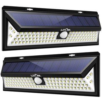 2PCS 54LED solar street light outdoor light human body induction led garden wall lamp energy saving and environmental protection