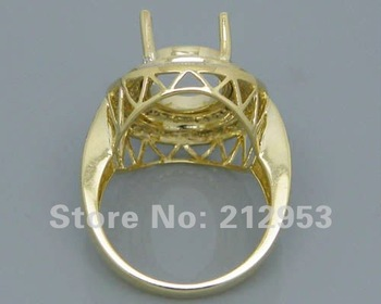 Yellow Diamonds For Sale   Solid Oval Shape 10x14mm Semi Mount Ring With Natural Diamond In 14K Yellow Gold 0.74Ct  Engage Wed Setting Ring For Sale