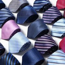 Men Tie 8cm skinny ties Striped 100%Silk Neckties Mens Fashion Jacquard Business mens Wedding dress luxury wide Bowtie недорого