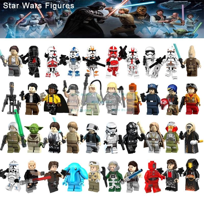 Single Sale Rebel Pilot Tie Pilot Legoelys Star Wars A-Wing Pilot Rose Tico Figures Building Blocks Compatible With Starwars