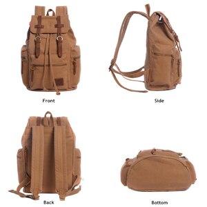 Image 3 - AUGUR New fashion mens backpack vintage canvas backpack school bag mens travel bags large capacity travel laptop backpack bag