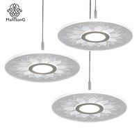Mantsong Creative LED Pendant Light Modern Indoor Arylic Light For Living Room Bedroom Bar Lights Pendant