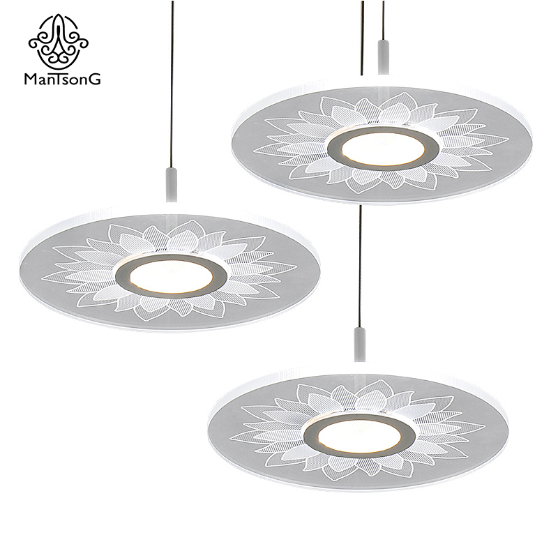 Mantsong Creative LED Pendant Light Modern Indoor Arylic Light for Living Room Bedroom Bar Lights Pendant Lamps Home Decor ...